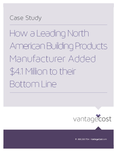 Vantage Cost North American Building Products Manufacturer Case Study large