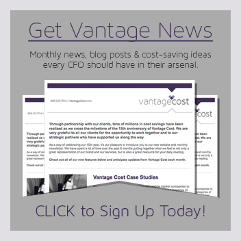 Vantage Cost Newsletter Sign Up AD